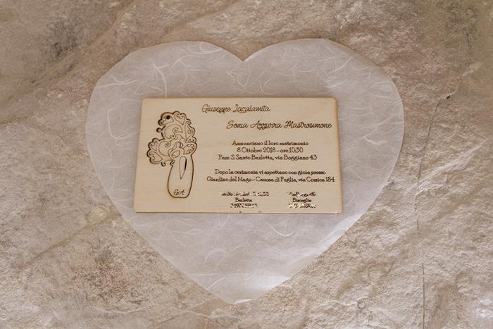 Inviti in Legno Matrimonio