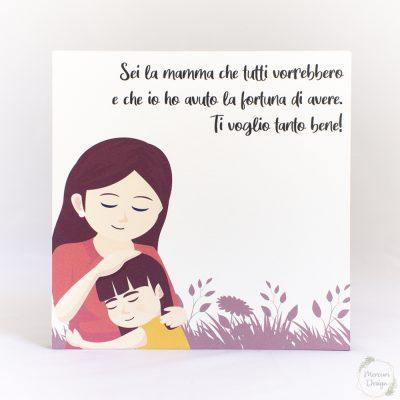 Quadretto Festa della Mamma - Fiori