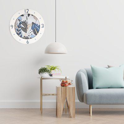 Orologio da parete floreale